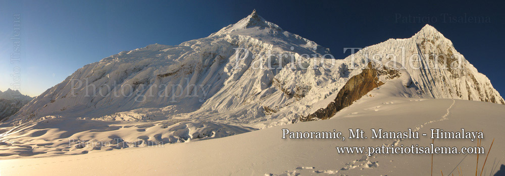 Patricio Tisalema Photography, Panoramic Mt. Manaslu - Himalaya