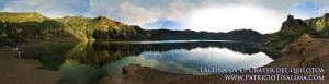 Foto panorámica de la laguna del Quilotoa