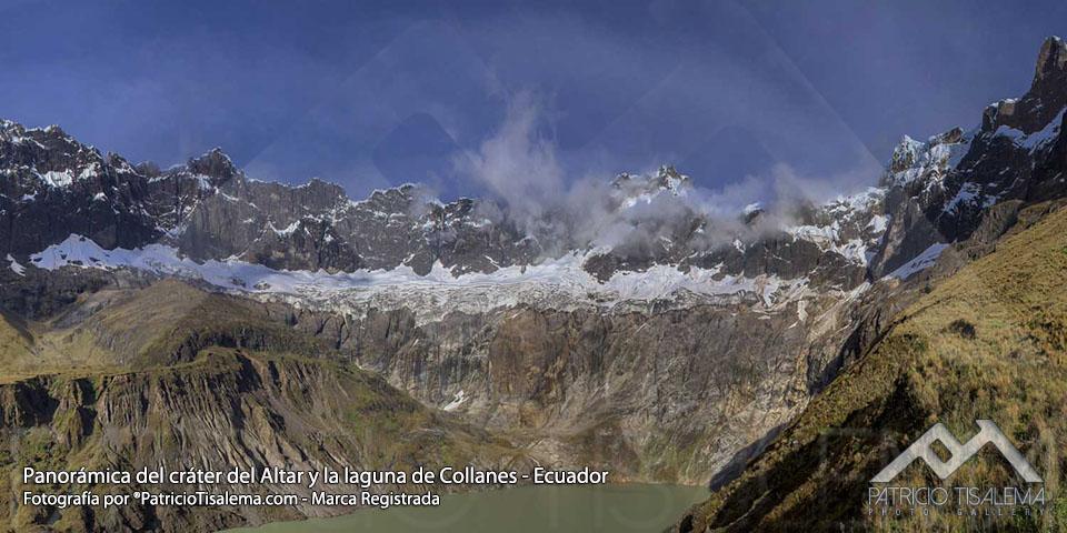 Cráter del Altar y laguna de Collanes