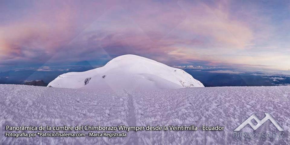 Cumbre Whymper del Chimborazo vista desde la cumbre Veintimilla