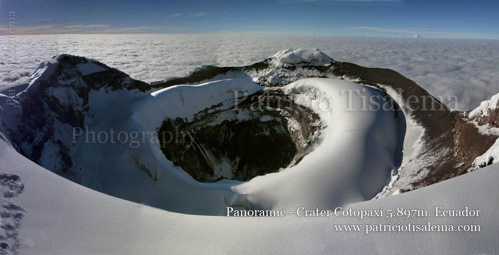 Patricio Tisalema Photography, Spectacular Panorama Crater Cotopaxi , Ecuador