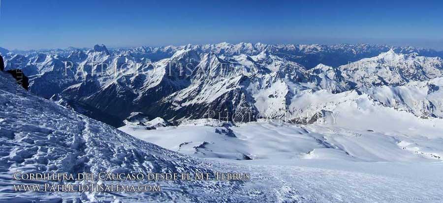 El Cáucaso desde el Mt. Elbrus