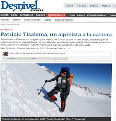 Patricio Tisalema Revista Desnviel
