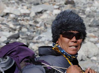 Dawa muy saludable durante la expedición antes del percance