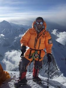 Patricio Tisalema ascendiendo a 8300m