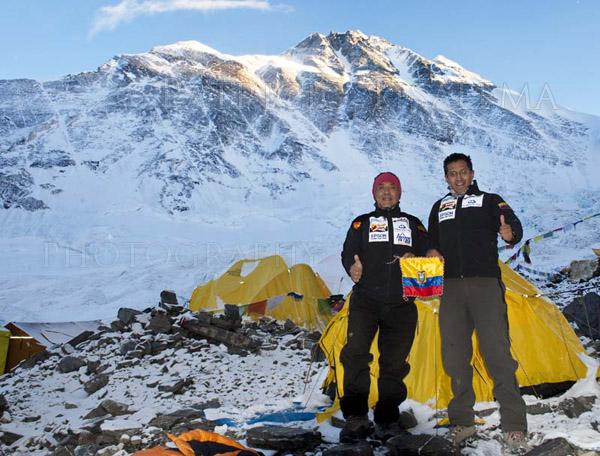 Patricio con Rafael Martínez en el Campo Avanzado