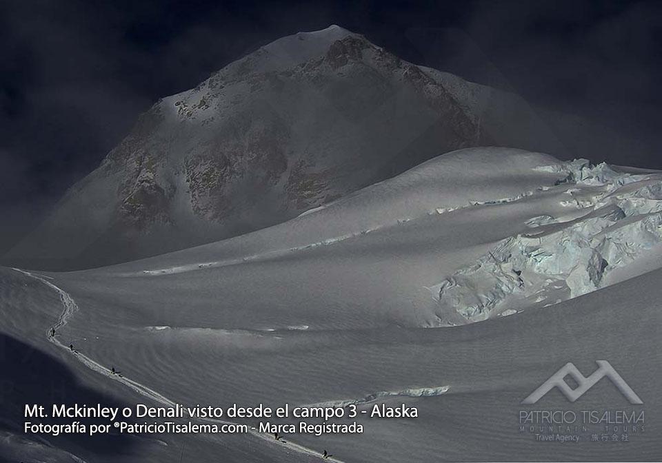 Mt. Denali visto desde el campo 3