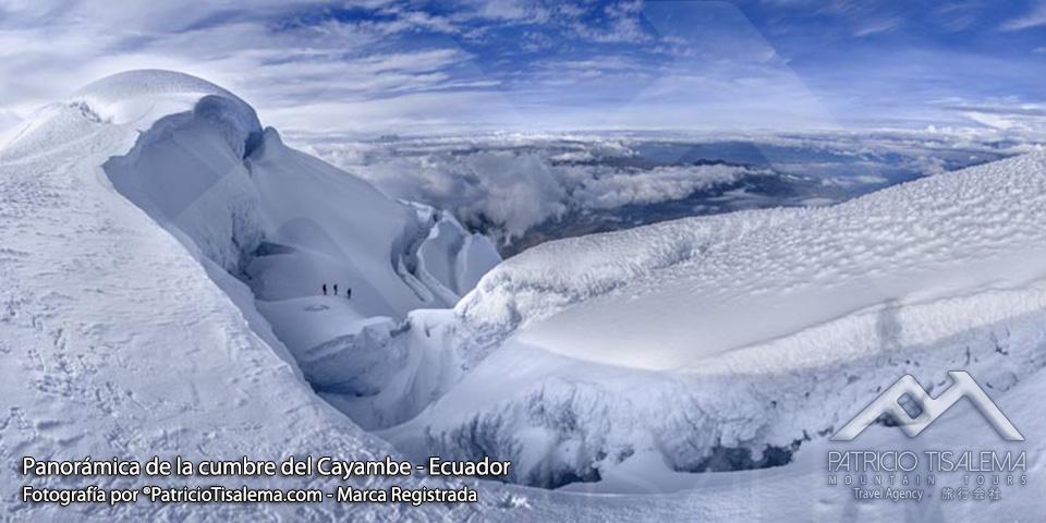 Vista panorámica de la cumbre del Cayambe