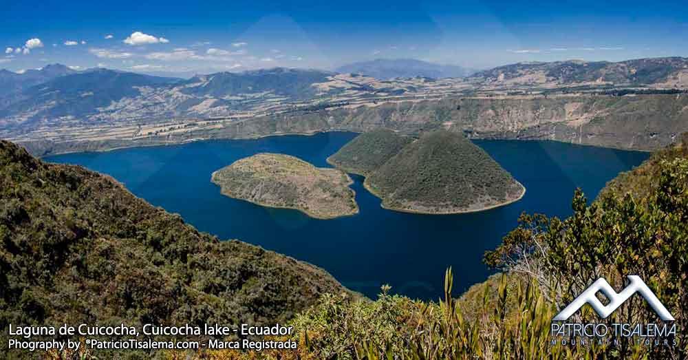 Laguna de Cuicocha en el Volcán Cotacachi